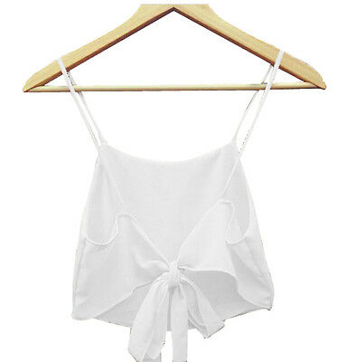 Fashion Sexy Women Sleeveless Camisole Shirt Summer Casual Blouse Crop Tops A1