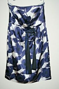 Laura-Ashley-Fashion-Designer-Tea-Party-Robe-Motif-Floral-Fashion-Mini-soie-L