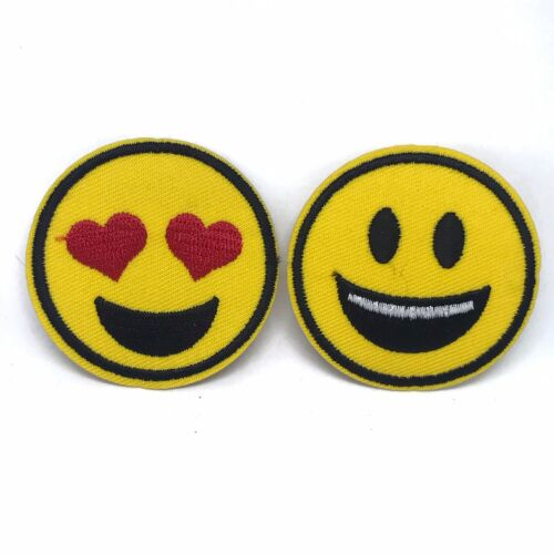 Emoji Patches Embroidered Sew Iron On patch Badge Fabric Applique Clothes US