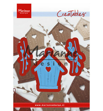 Marianne Design Creatables Willow cats & birdhouse Stanzschablone LR0515