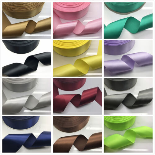 New 20 Colors 5//10//20 Yards 2 inch 50mm Multi-purpose Bow Ribbon Wedding Crafts