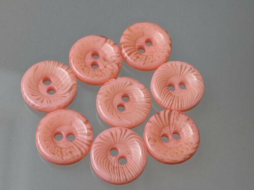 zur Wahl Blusen 13mm 8x hübsche Knöpfe Rosa oder Apricot für Puppen
