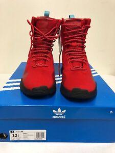 55922ed7960aa5 Image is loading Adidas-AF-1-3-Primeknit-Boots-Scarlet-Red-