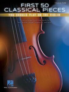 Bien éDuqué 50 Premiers Classique Pieces Vous Devriez Jouer Sur Le Violon Livre Neuf 000269155-afficher Le Titre D'origine Saveur Pure Et Douce