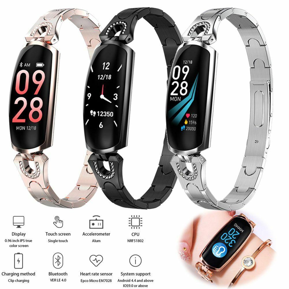 Women Ladies Smart Watch Bracelet Heart Rate Monitor for iPhone Samsung Huawei bracelet Featured for heart iphone ladies monitor rate smart watch women
