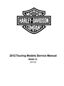 2012 Harley Electra Glide FLHTK FLHTC FLHTCU FLHTCUSE7 Service Manual On CD