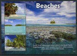 Tuvalu-2018-MNH-Beaches-3v-M-S-I-Trees-Tourism-Landscapes-Nature-Marine-Stamps