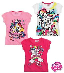 My-Little-Pony-T-Shirt-Top-Girls-Age-2-4-6-8-Years-New-Official-100-Cotton
