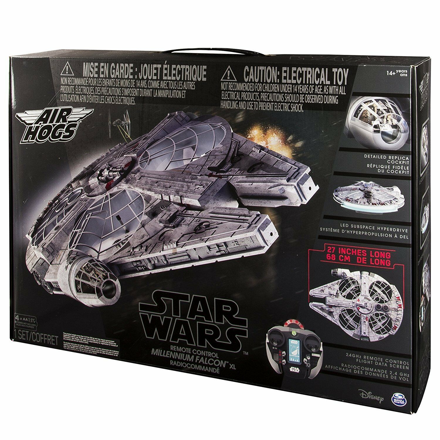 Air Hogs - Star Wars Mando a Distancia Halcón Milenario XL Volador Dron