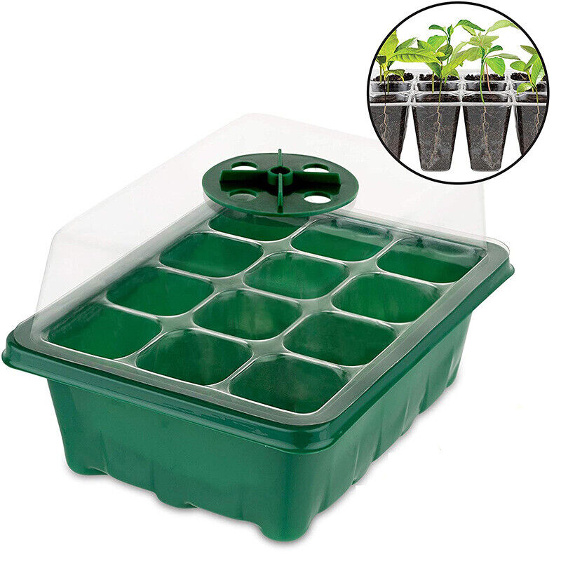 6/12 Cells Nursery Pots Planting Starter Tray Plant Grow Box Nursery Planter