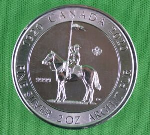 2020-2-OZ-9999-Pure-Silver-RCMP-King-George-V-Royal-Canadian-Mint-Coin