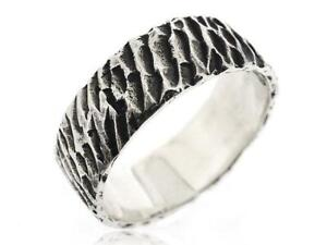 925 Sterling Silver Mens Jewelry Black Antique Texture