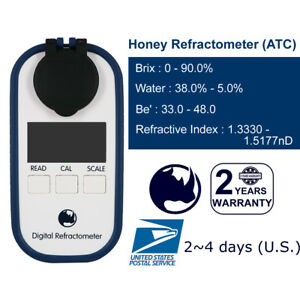 Honey-0-90-Brix-38-5-Water-33-48Be-039-Digital-Refractometer-with-ATC