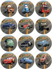 Cakeshop 12 x PRECUT Disney Pixar Cars Edible Cake Toppers - Premium Wafer Paper