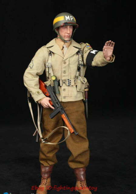 1:6TH WW2 SCALA DID U.S Army 2nd ARMORED DIVISION MP 44 METAL DONALD