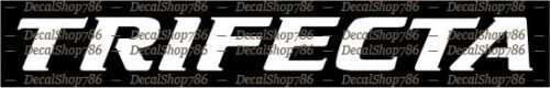 Vinyl Die-Cut Peel N/' Stick Decals//Stickers Trifecta Boats Outdoor Sports