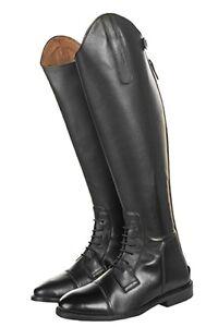 Leder-Reitstiefel-Spain-Softleder-mit-Schnuerung-HKM-schwarz-36-42-NEU