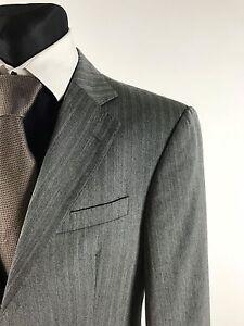 JOOP-Men-039-s-Grey-Striped-100-Virgin-Wool-Blazer-Jacket-Size-EU50-UK40