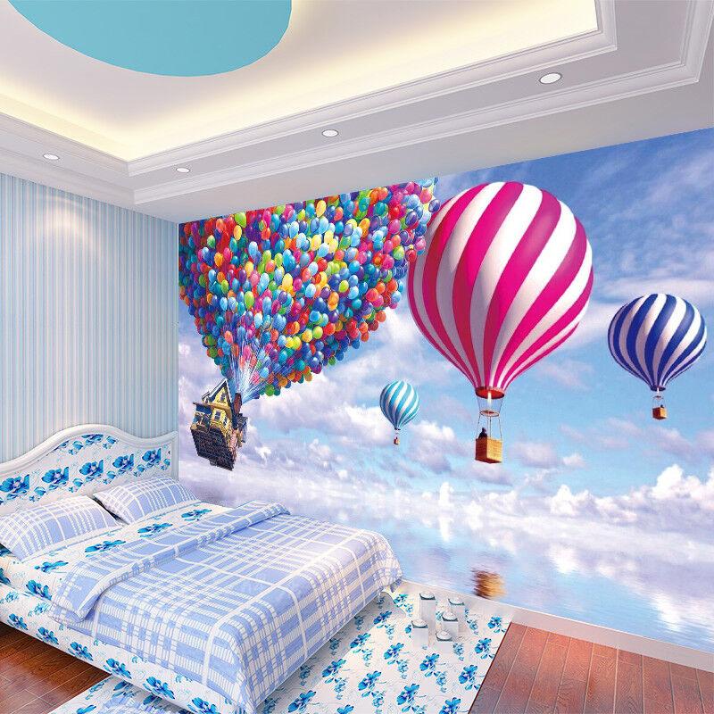 3D Sky Balloons Hut 74 Wall Paper Murals Wall Print Wall Wallpaper Mural AU Kyra