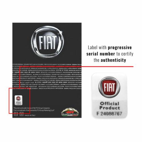 Toppe Patch Fiat Ufficiali Logo 60 mm