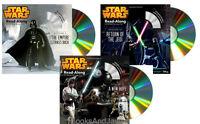Star Wars Return Of Jedi,empire Strikes Back,new Hope 3 Read-along Storybook Cds