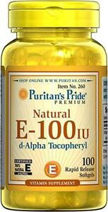 Puritan-039-s-Pride-Vitamin-E-100-iu-100-Natural-100-Softgels