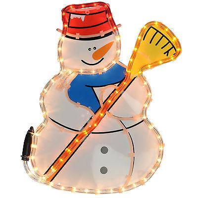 Large 43cm Snowman Rope Lights Silhouette Christmas Decoration