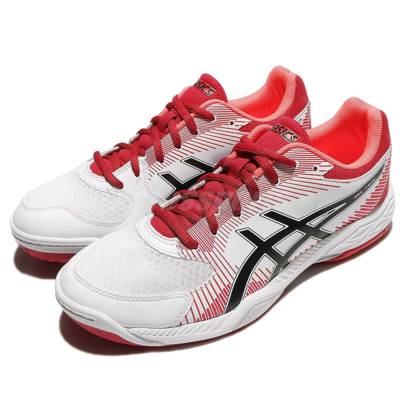 Asics Gel-Task White Red Black Men Badminton Volleyball Shoes Sneaker B704Y-0123