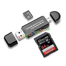 Micro USB OTG a USB 2.0 Adaptador Lector de Tarjetas SD para teléfono Tablet PC