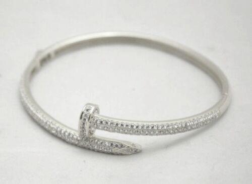 diverse finiture Bracciale Déjà-Vu Gioielli a chiodo in argento 925 e cristalli