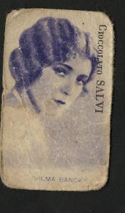 Figurina-Anteguerra-Anni-20-30-Vilma-Bancky-Cioccolato-Salvi-Ottima