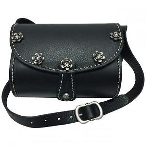 72286c03b82b7 Das Bild wird geladen Trachtentasche-Dirndl-Handtasche-Trachten-Tasche- Ledertasche-schwarz-versilbert