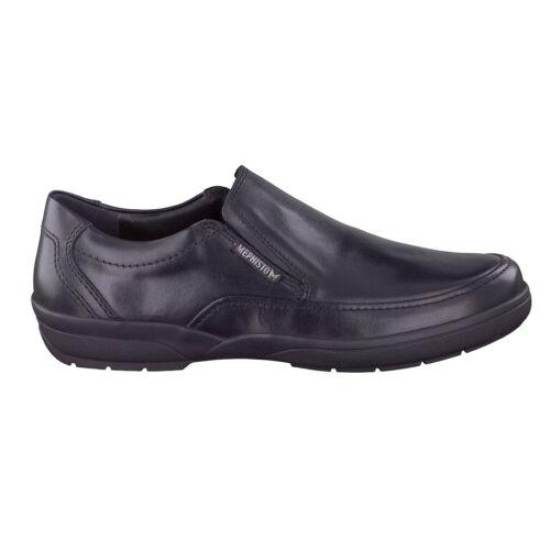 réduit!!! MEPHISTO pantoufles Adelio Noir!!