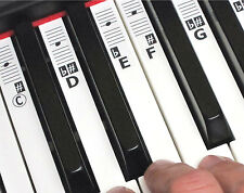 Piano Stickers - 52 Music Keyboard Key Note Labels (49-88 Keys) + Online Lessons