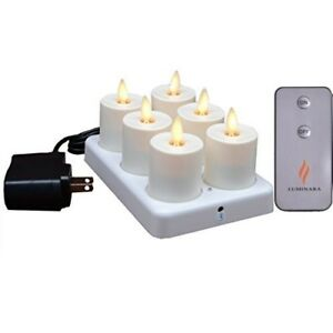 Luminara-Real-Flame-Effect-Rechargeable-Flickering-Flameles-Led-TeaLights-Candle