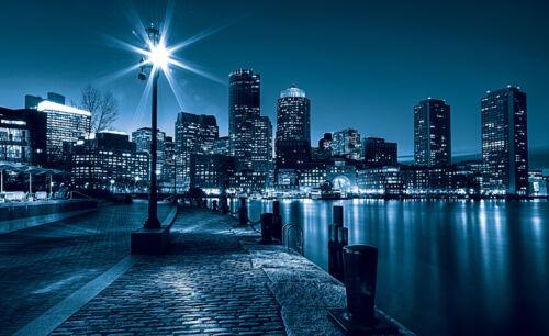 VLIES Fototapete-NEW YORK- 283 -Manhattan Stadt Blau Skyline City Taxi Rock XXL