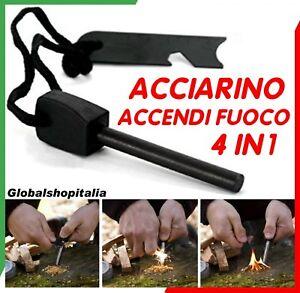 Acciarino-Accendi-Fuoco-Campeggio-Sopravvivenza-Scout-Caccia-Attrezzo-Escursione