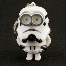 2016 Star Wars imperial stormtrooper Light Up LED With sound Keyring Keychain