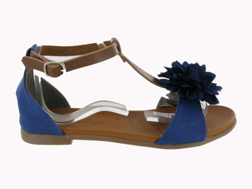 estate open toe sandali da donna Morbido Fiore Scarpe uk3-9 Basse Vacanze