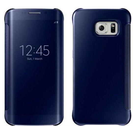 251a1266ec0 Funda libro para Samsung Galaxy S7 Edge Flip tapa fino efecto espejo azul |  Compra online en eBay