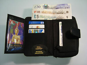Ladies-Soft-Leather-Purse-Wallet-Black-With-Large-Coin-Pocket-and-Many-Features