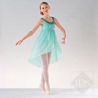 IN STOCK Elegant Mint Green Sequin Sparkle Lyrical Dress Dance Costume