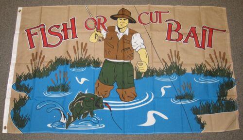 FISH OR CUT BAIT FLAG 3X5 FEET SPORT BOATING FLY FISHING TROUT 3/'X5/'  F906