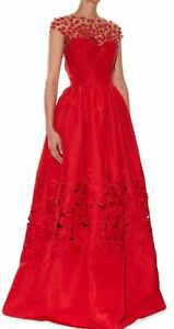 9K-R-039-16-LIKE-no-OTHERS-Fairy-Tail-MAGNIFICENT-Oscar-De-La-Renta-RED-dress-gown