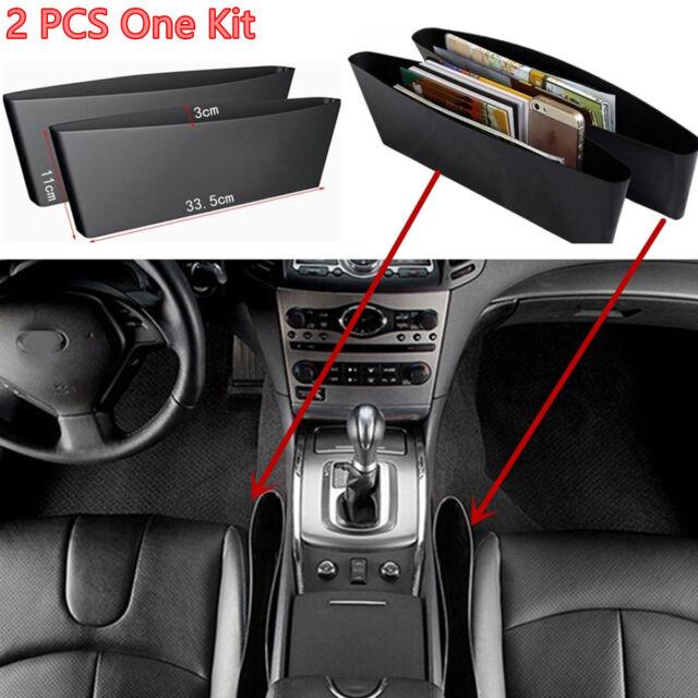 2xBlack Catch Catcher Storage Organizer Box Caddy Car Seat Slit Pocket universal
