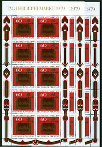 Bund-KB-1023-postfrisch-3-Stueck-Kleinbogen-BRD-Tag-der-Briefmarke-1979-MNH