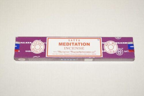 NEW SATYA MEDITATION Nag Champa Incense one box 15g *Free Shipping*