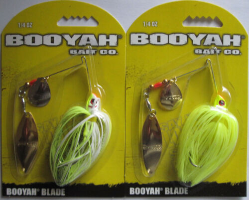 2 Tandem Blade - Two Popular Colors 1//4 oz BOOYAH Spinnerbait