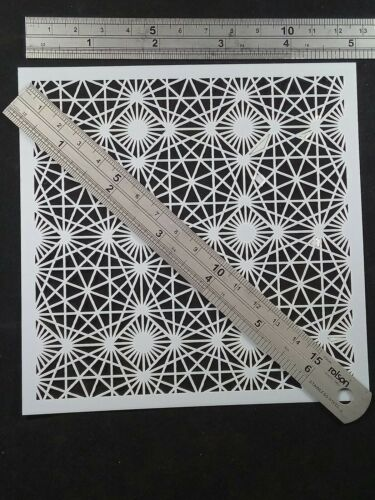 Geometric Stencil Embossing Scrapbooking Cardmaking Ink Airbrush Painting #Q