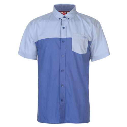 Lee Cooper Mens C SS FshZp Shirt Short Sleeve Casual